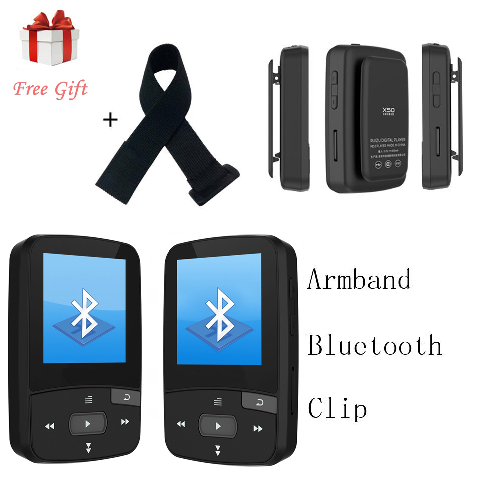 sport clip bluetooth mp player original ruizu screen fm radioe