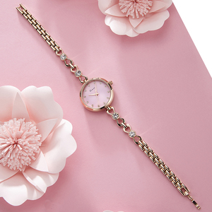 Image 3 - KIMIO Brand Small Dial Quartz Watches For Women Ladies Stainless Steel Hollow Thin Bracelet Watch Delicate Crystal Wristwatch