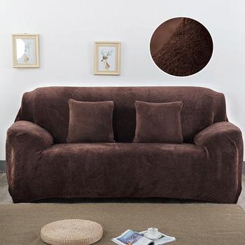 Gruby pluszowy fabirc narzuta na sofę zestaw 1 2 3 4 osobowa elastyczna narzuta na sofę narzuta na sofę s do salonu narzuty na krzesło sofa ręcznik 1PC tanie i dobre opinie coolazy 90-140cm 145-185cm 195-230cm 235-300cm sofa slipcover Rozkładana okładka Drukowane Nowoczesne Stałe Trzy-seat sofa