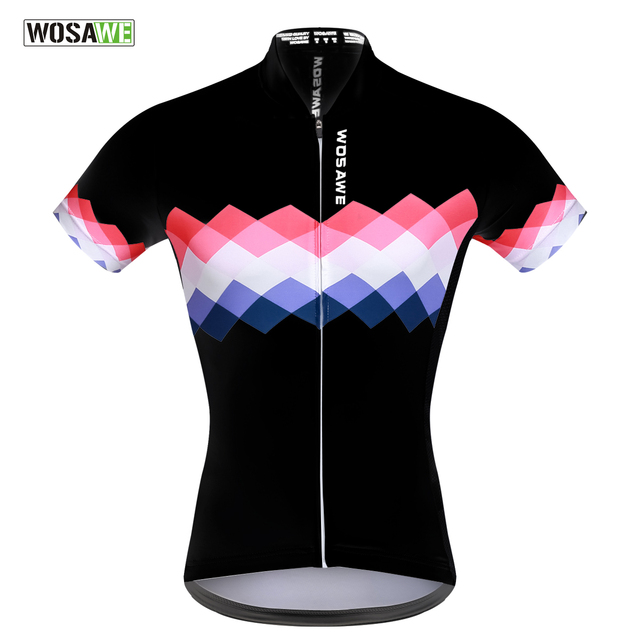 WOSAWE MTB Jersey Summer Quick-dry Cycling Jersey Women Cool Short Sleeve  Bike Clothes Lycra Ropa Ciclismo 516f8ed98