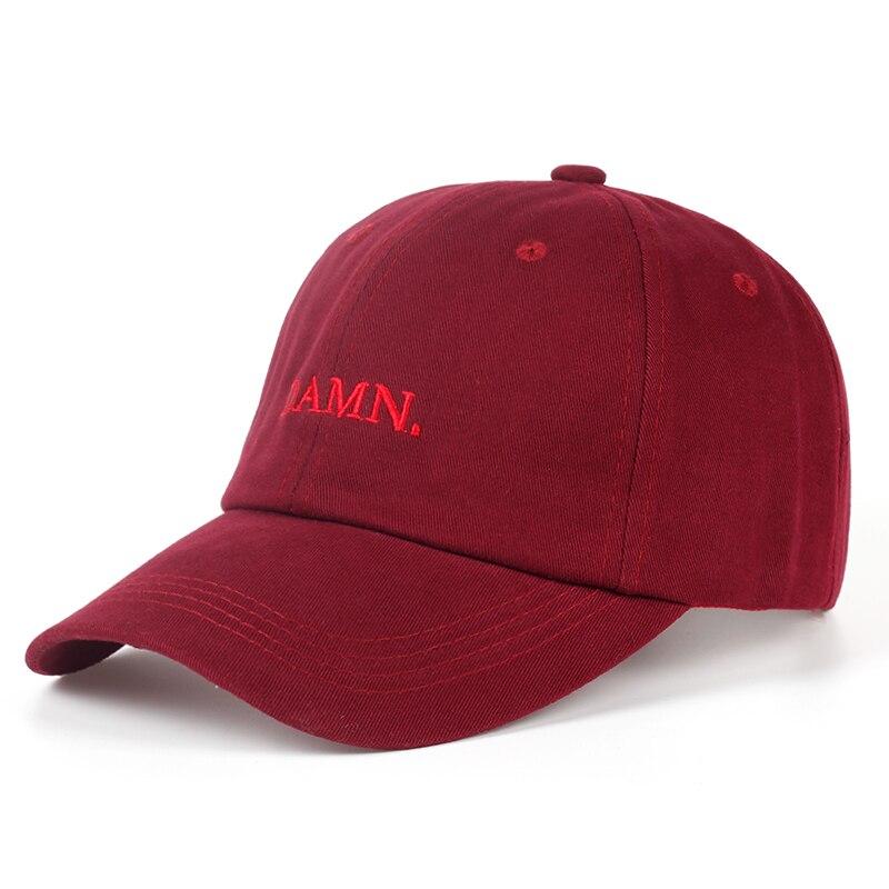 Di alta Qualità vino rosso kendrick lamar dannatamente cap ricamo DANNAZIONE.  non strutturati cappello papà bone donna uomo il rapper baseball cap in Di  ... 3fcea1f80900