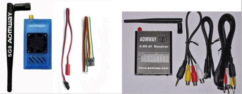 Aomway 5.8Ghz 1W 1000mW 32CH AV TX RX Transmitter/Receiver w/DVR Recorder function for FPV RC Airplane fpv 5 8g av video receiver rx w led display channel display rc832 32ch rp sma