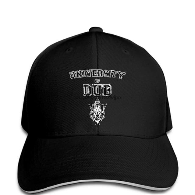 funny Baseball caps University of Dub Music Sound System Jamaica Reggae  Bass Rasta Step Mens cap Cool Funny 14c6793ed343