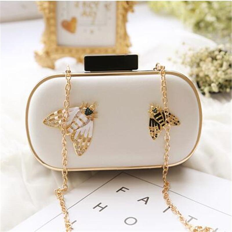 2019 고품질 여성 다이아몬드 꿀벌 이브닝 가방 브랜드 저녁 식사 클러치 지갑은 MN459 배송 드롭 파티 가방과 함께