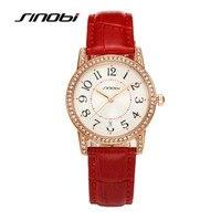 SINOBI Simple Style Luxury Female Casual Watches Women Rose Gold Case Diamonds Women S Watch Quartz