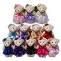 NUEVA 12 CM 10 unids/lote pp algodón juguetes para niños muñeca de la felpa mini pequeño oso de peluche oso de la boda ramos de flores