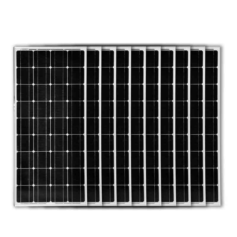 Haute Efficacité Panneau Monocristallin 12 v 100 w 10 pièces Panneaux Photovoltaïques 220 v 1000 W Chargeur De Batterie De Voiture Solaire Système Domestique LED