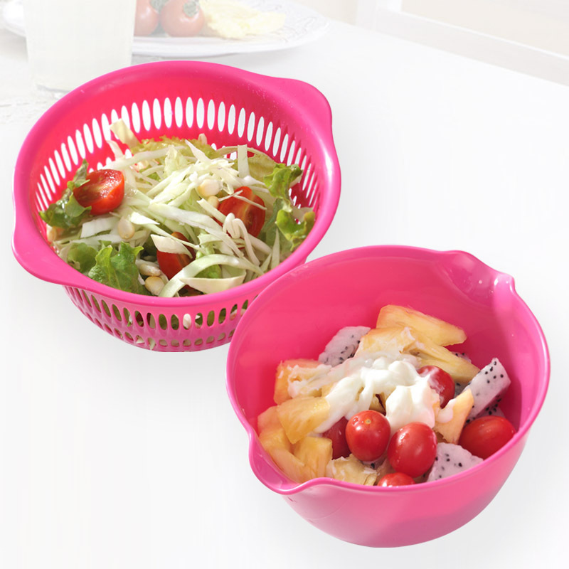 Drain Drain Fruit And Vegetable Basket Of Fruits And Vegetables Dripping  Sieve Vegetables Double Sieve Basket Of Fruit Basket Cr In Colanders U0026  Strainers ...