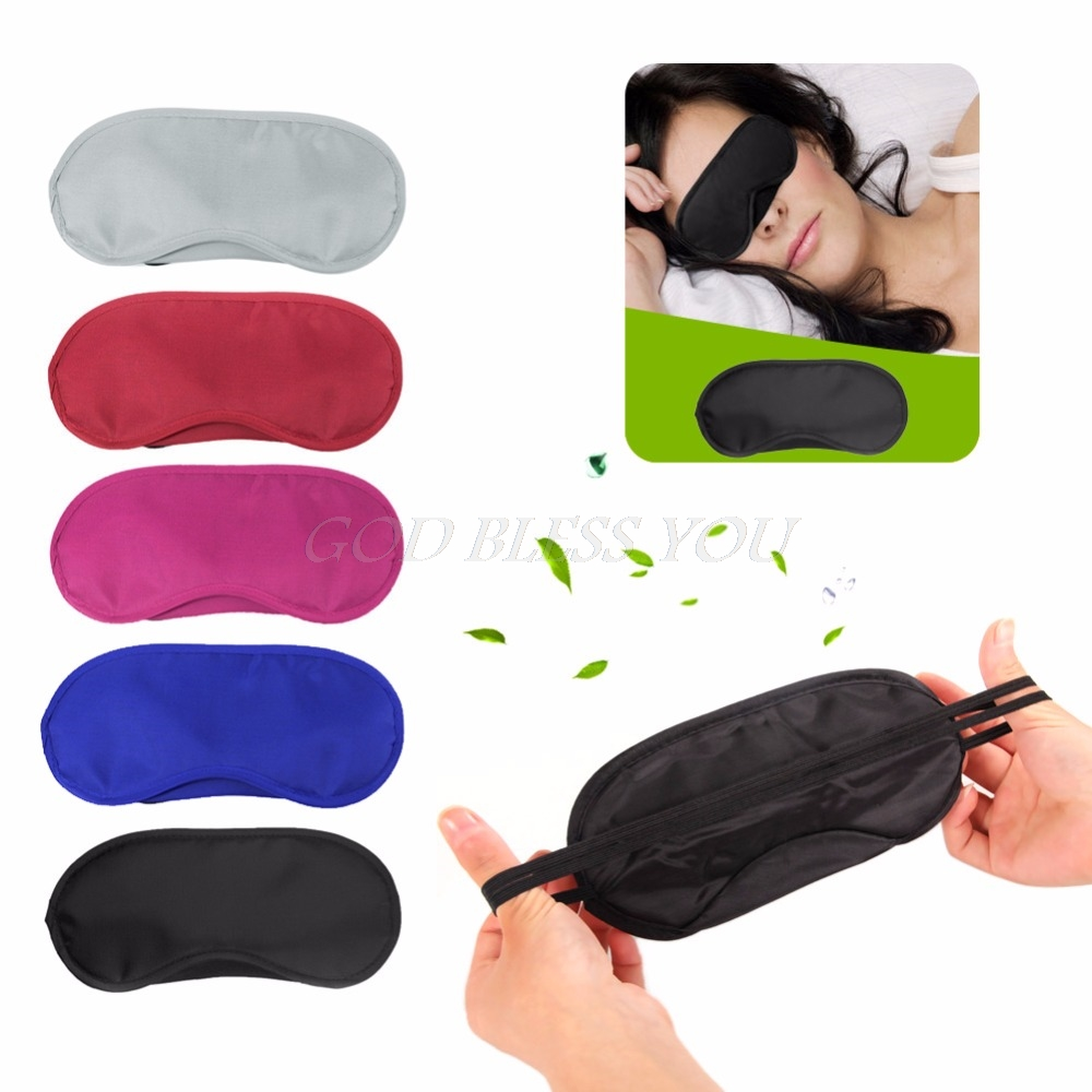 Travel Sleeping Aid Mask Sleep Rest Eye Shade Cover Comfort Blind Fold Shield Drop Ship