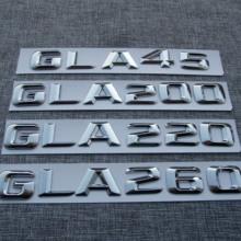 3D ABS серебро для Mercedes Benz AMG GLA45 GLA200 GLA220 GLA260 сзади Эмблема Логотип Знак номера письмо наклейка стайлинга автомобилей