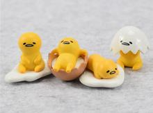 Gudetama Egg 4Style 4cm 4pcs/Lot Cute Lovely Gudetama Toys Yellow White Lazy Egg Gudetama Action Figure Anime