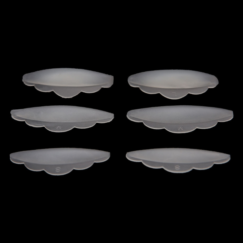 HUAMIANLI 6pcs Eyelash Lift Lifting Curlers Curl Silicone Eye Lash Extension Shields Pads Dropshipping