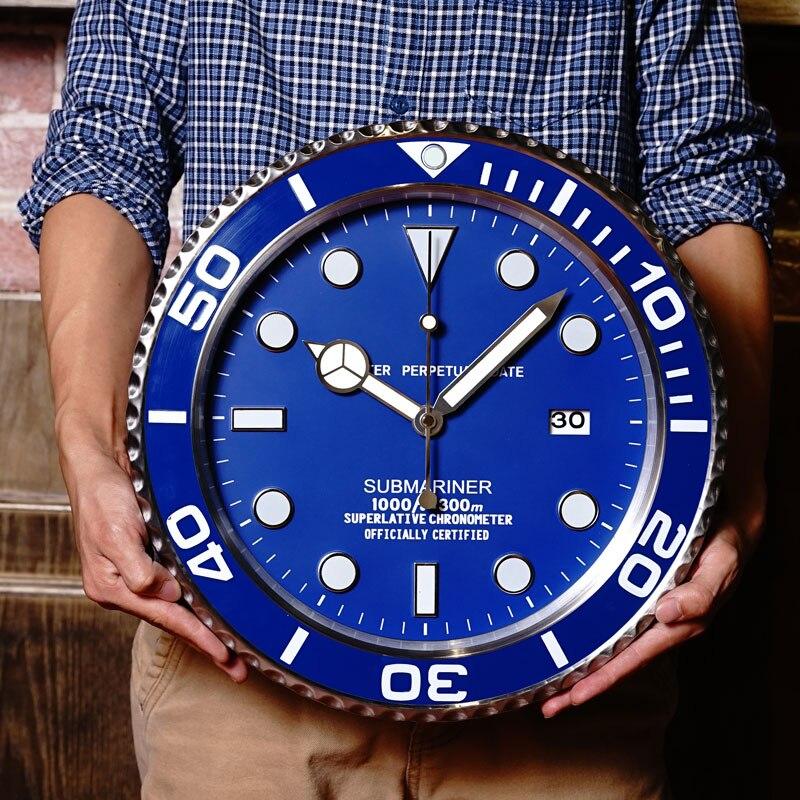 Métal de luxe pas cher horloge murale Design moderne Art Pow patrouille mur montre mécanisme décor à la maison horloges murales avec Logos
