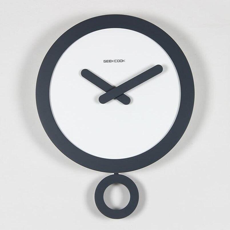 Nouvelle horloge ABS 35 cm horloge murale 3D avec anneau pendule Design moderne pour la décoration de la maison mouvement silencieux nordique grande montre murale