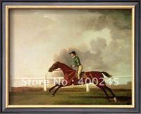 الحيوان النفط اللوحة زيت على قماش خليج malton مع جون singleton تصل حوالي 1767 بواسطة جورج ستابس 100% اليدوية + جودة عالية