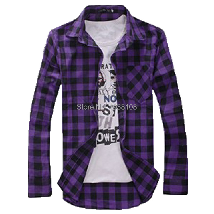 And Flannel Purple Blue