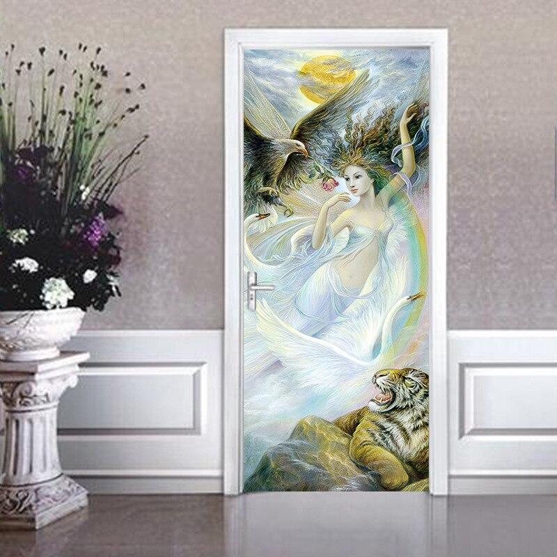 Permalink to Door Sticker 3d Wall Mural Removable Self-adhesive Door Sticker PVC Waterproof DIY Wallpaper For Doors Art Door Homr Decorative