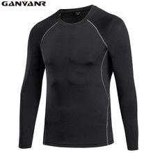 Ganyanr бренд Бег футболка Для мужчин спортивная Колготки спортивный