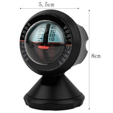 New Style Car Vehicle Inclinometer Angle Slope Level Meter Tool Dinometer Grading Instrument Gradient Balancer SUV Declinator fashion new hot 1 pc 3 in 1 auto car compass inclinometer angle slope level meter finder gradient balancer decoration
