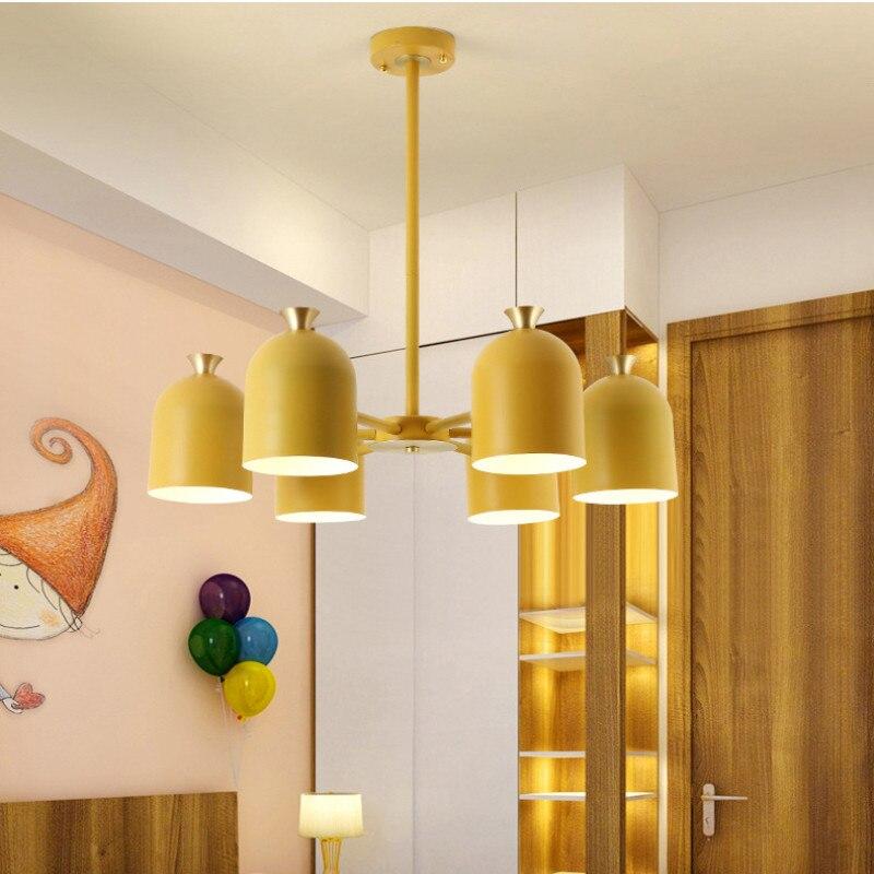 LED d'intérieur lustre de lumière d'intérieur maison décoratif coloré Suspension lampe à LED pour salon chambre salle à manger luminaire - 3