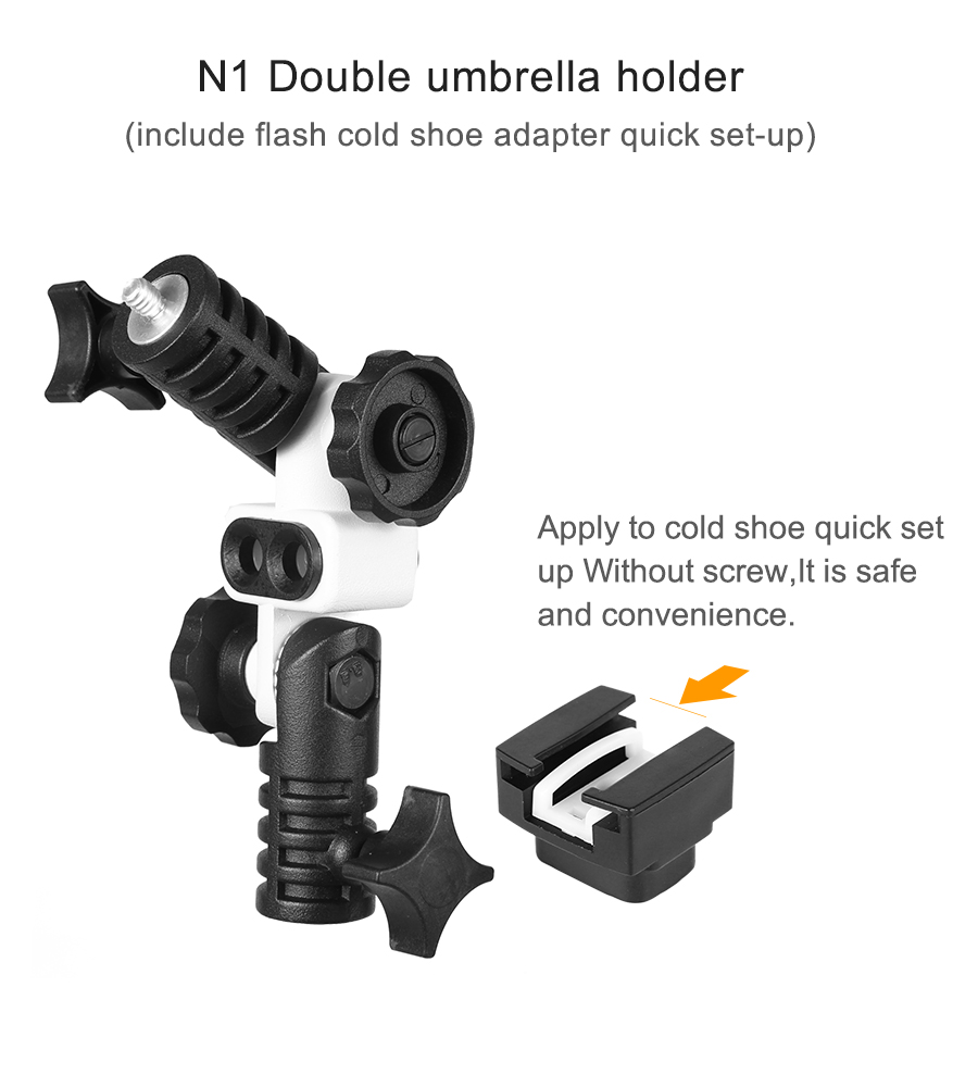Umbrella Adapter with Universal Cold Shoe