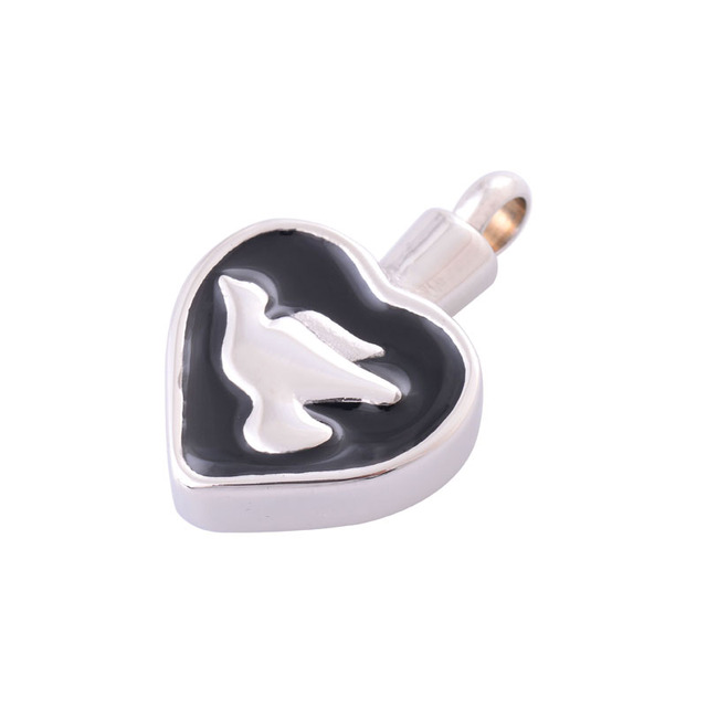 Heart Shaped Urn With Bird