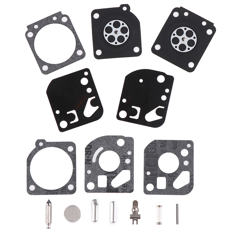 15PCS/SET Carburetor Carb Gasket Diaphragm Repair Rebuild Kit Fit For Zama RB-29 Carb Blower Trimmer