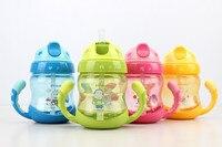 250 мл baby cup ручка дети учатся трубочкой бутылки чашке младенческой Лидер продаж