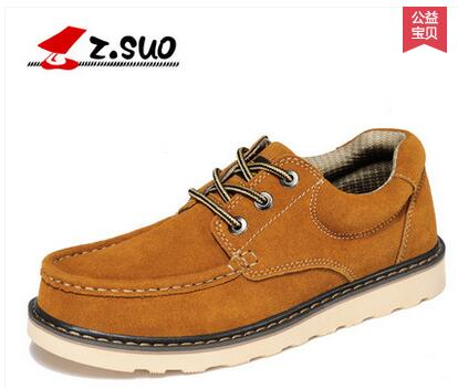 Zsuo fashion plus size casual men s popular shoes cow suede leather fashion male shoes ZS6156