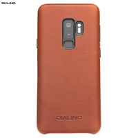 QIALINO Ultra Slim Real Genuine Leather Back Case for Samsung Galaxy S9 Fashion Luxury Bag Phone Cover for Samsung S9 Plus