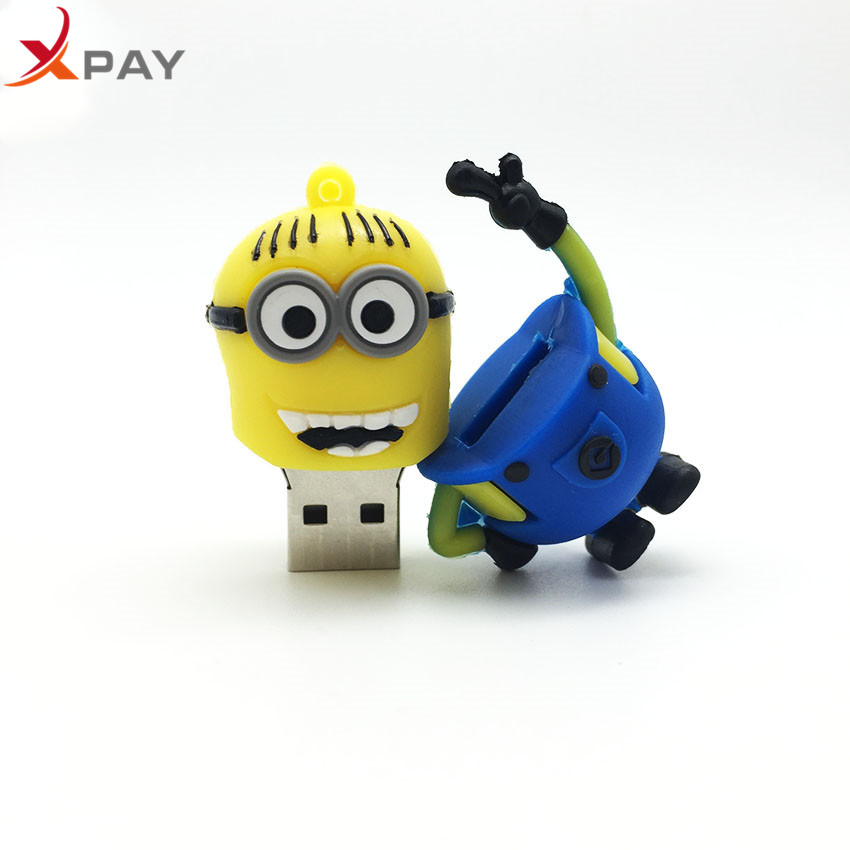 Image 2 - High Speed 128GB Usb Flash Drive Cartoon Little Yellow Man Usb 2.0 4GB 8GB 16GB Pen Drive 32GB 64GB Flash Memory Stick Best Gift-in USB Flash Drives from Computer & Office