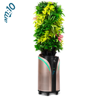 Large Plant Touch Screen Sensing Control Air Purifier for Household Office Aromatherapy Disinfection Smoke Dust Removal
