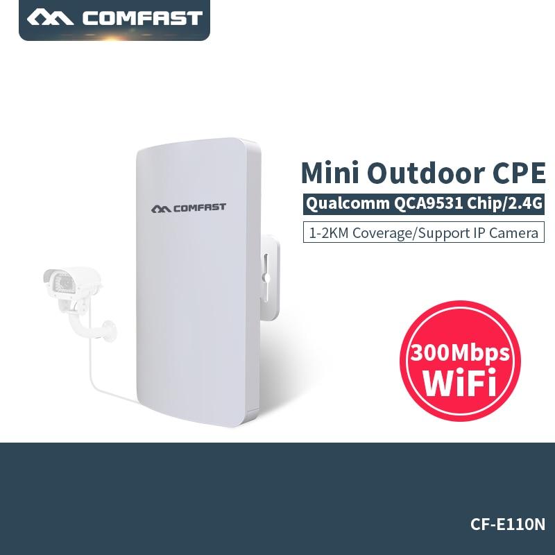 Comfast Mini Outdoor AP Wireless WIFI Repeater 2.4G 300M Outdoor CPE Router WiFi Bridge Access Point AP Router Extender CF-E110N 2pcs 2km comfast outdoor mini cpe wifi bridge wireless wifi extender repeater ap router 300mbps point to point wifi transmission