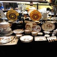 Европейская посуда 58 высокого класса Европейский костяной фарфор набор столовых приборов посуда высокого класса подарки