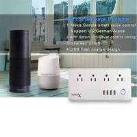 WiFi Smart Power Strip Surge Protector 4 Socket Outlet Plug Smart Socket Home Strip For Home