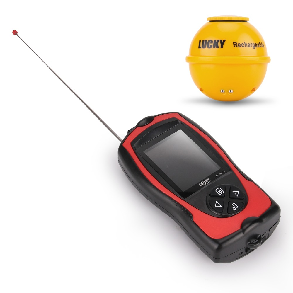 FF1108-1CWLA Rechargeable Findfish Wireless Remote Sonar Sensor 45M Water Depth High Definition LCD FishFinder Fish Finder Pesca (6)