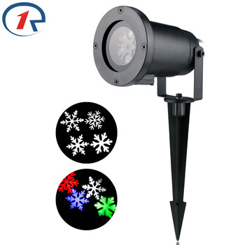 ZjRight עמיד למים חג המולד Snowflake LED מקרן אור RGBW מהלך צבעונית Snowflake שלב אור מסיבת אורות Dj דיסקו אורות