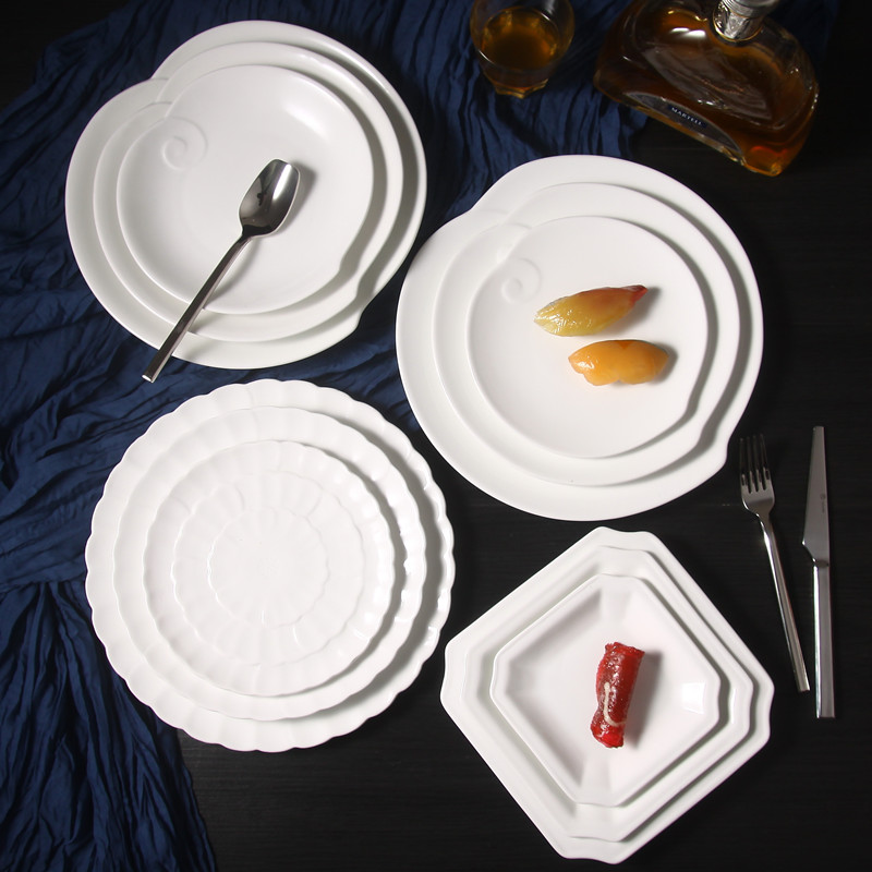 Western Salad Dishes: 2PCS Western Style Food Dishes Hotel Restaurant Beefsteak