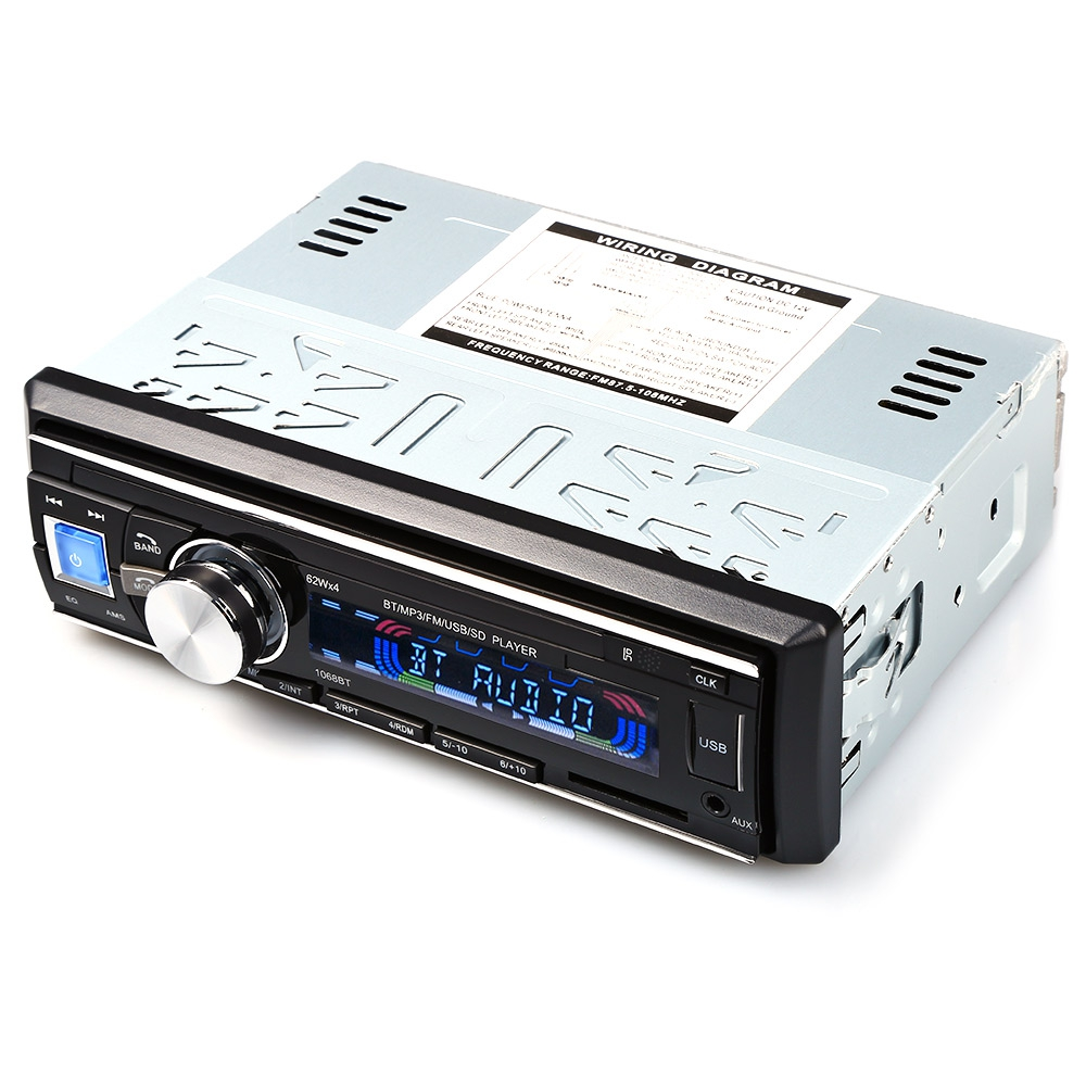 Us Stock1 Din Car Radio Size Stereo Fm And Mp3 Player: Best 1068 Car Radio Stereo Player Bluetooth 1 Din Aux In