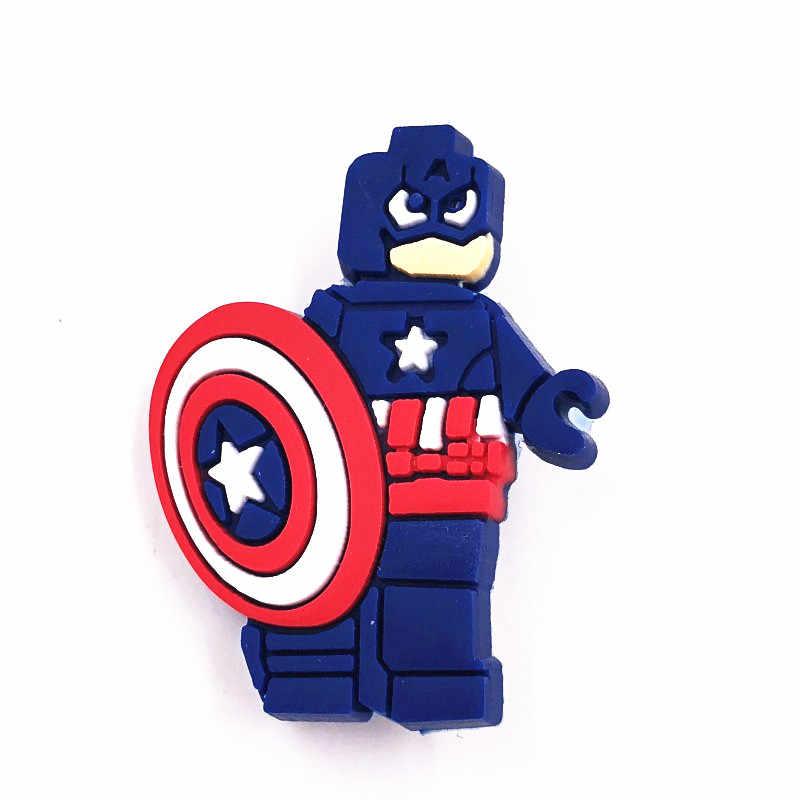 1Pcs Marvel Avengers Super Hero PVC Ikon Boneka Bros Pin Lencana Anime Iron Man Lencana Ransel Diy untuk Pakaian anak-anak Perhiasan