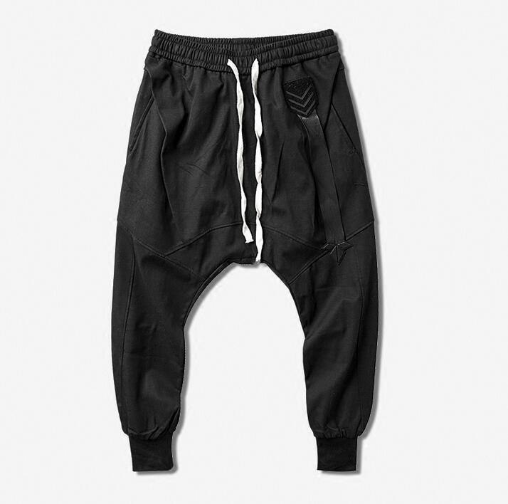 100% Wahr 219 Herbst Mode Lässig Harem Hosen Herren Hosen Pantalones Hombre Fracht Füße Hosen Für Männer Pantalon Homme Schwarz Neuheit
