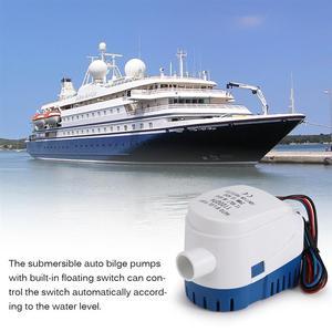 Image 2 - 1100GPH/אוטומטי מים משאבת 12 V עבור צוללת אוטומטי משאבת עם לצוף מתג ים סירה ימי פיתיון טנק דגים