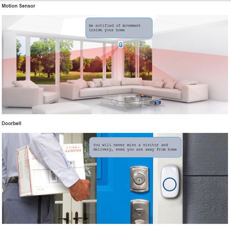 Säkerhetskamera Hemalarm System Trådlöst WiFi DIY Kit - Säkerhet och skydd - Foto 2