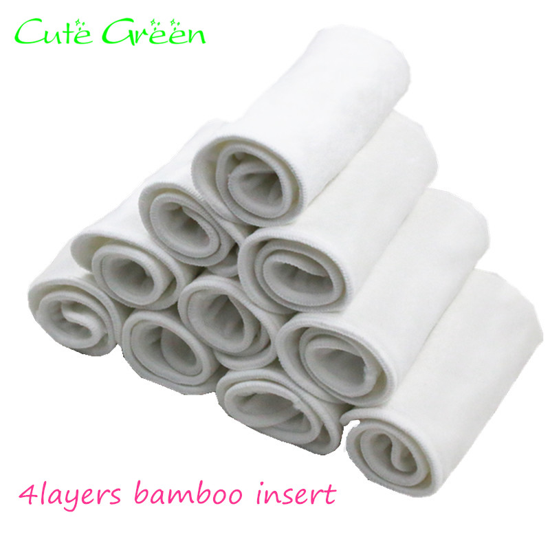 Reusable Bamboo Charcoal Insert Baby Cloth Diaper Nappy Changing Liners Mat Microfiber Bamboo Cotton Diaper Inserts Baby Nappies