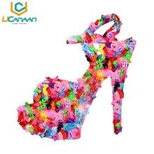 Каблуках барби одежду сандалии лучший куклы девушка пара красочные подарок платье