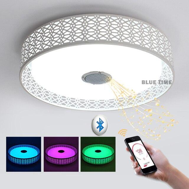 modern ceiling lamps. Intelligence RGB Modern Ceiling Lights Led Bluetooth Music Lamp For Living Room Lustres De Sala Lamps D