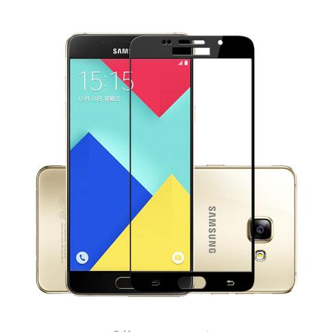Colorful Tempered Glass For Samsung Galaxy A5/A3/<font><b>A7</b></font> 2017 2018 Full Cover Screen Protector Toughened Cover Film Blue SmartPhone