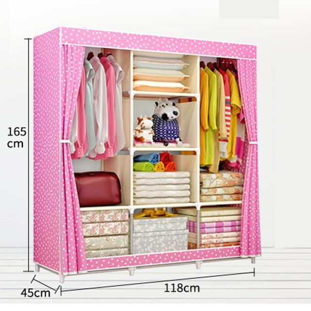 DIY Non-woven fold Portable Storage wardrobe Cabinet bedroom 1