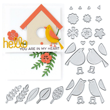 29Pcs Metal Cutting Dies New 2018 Bird Leaves Embossing Scrapbooking Stencil Craft Cut For DIY Card Crafts Handmade