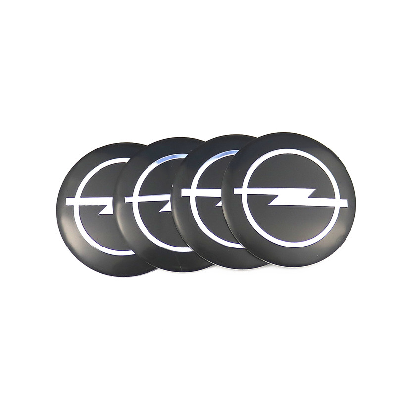 Car Styling 4Pcs Wheel Center Hub Cap Stickers 56.5mm Emblems For Opel Astra H G J Corsa Insignia Antara Meriva Zafira